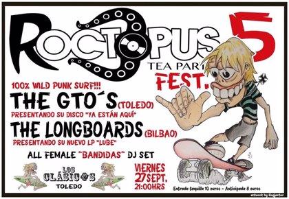 The Gto's, The Longboards y Las Bandidas DJ actuarán en Toledo en el Roctopus Tea Party Fest