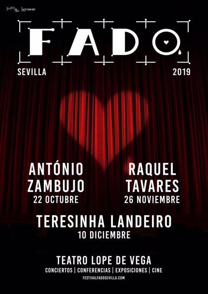 V Festival de Fado de Sevilla trae al Teatro Lope de Vega a António Zambujo, Raquel Tavares y Teresinha Landeiro