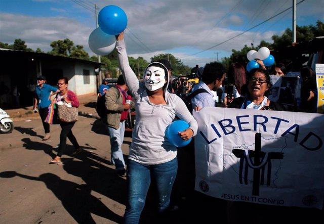 Manifestación de la oposición en NIcaragua