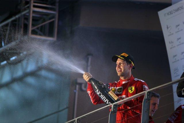 Sebastian Vettel en el Gran Premio de Singapur 2019