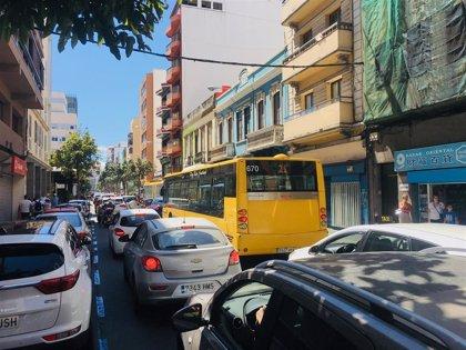 Las Palmas de Gran Canaria culmina la Semana europea de la movilidad provocando un atasco ininterrumpido de 5 horas