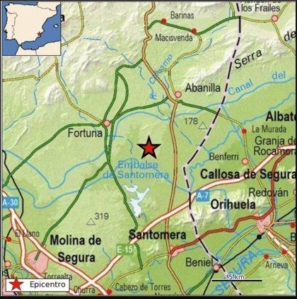 Varias llamadas alertan al '112' de un movimiento sísmico de 2,8 de magnitud con epicentro en Fortuna