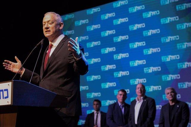 El líder del partido israelí Azul y Blanco, Benny Gantz