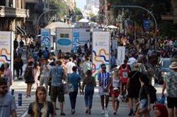 Els participants del Dia sense cotxes a la Via Laietana volen repetir almenys una vegada al mes (ACN)