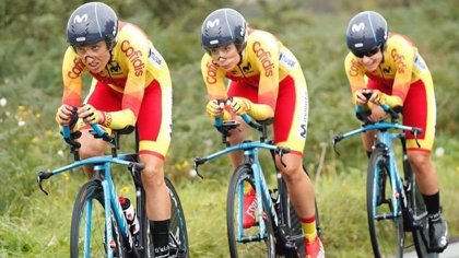España, décima en la contrarreloj mixta por equipos en el Mundial de ciclismo en carretera