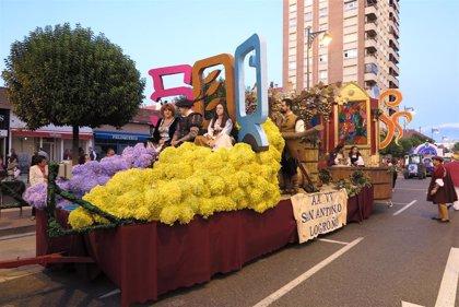 La carroza de la Asociación de Vecinos San Antonio de Logroño, ganadora del concurso del desfile de San Mateo 2019