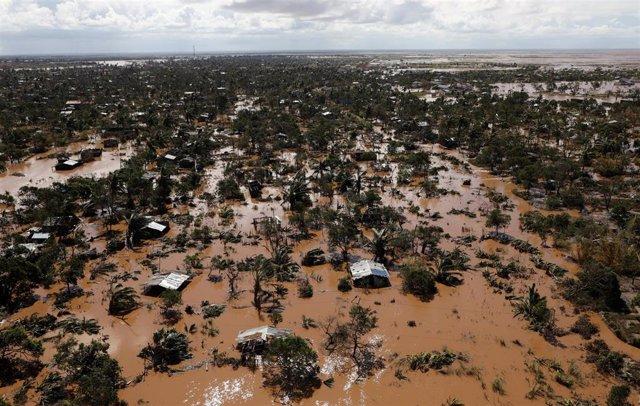 Inundaciones por el ciclón 'Idai' a las afueras de Beira