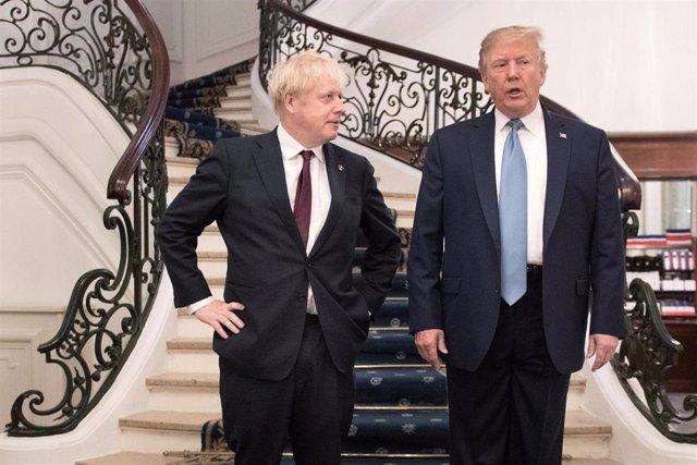Donald Trump y Boris Johnson durante la cumbre del G7 en Biarritz