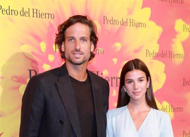 Feliciano López y Sangra Gago en la Mercedes Benz Fashion Week de Madrid