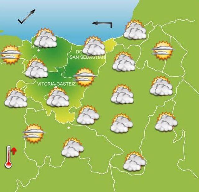 Previsiones meteorológicas para el 23 de septiembre en Euskadi