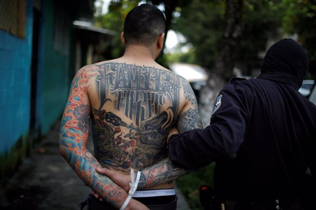 Detención de un miembro de la Mara Salvatrucha en Ilopango