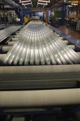Una fábrica metalúrgica.
