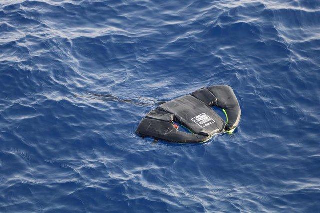 Chaleco salvavidas en el Mediterráneo