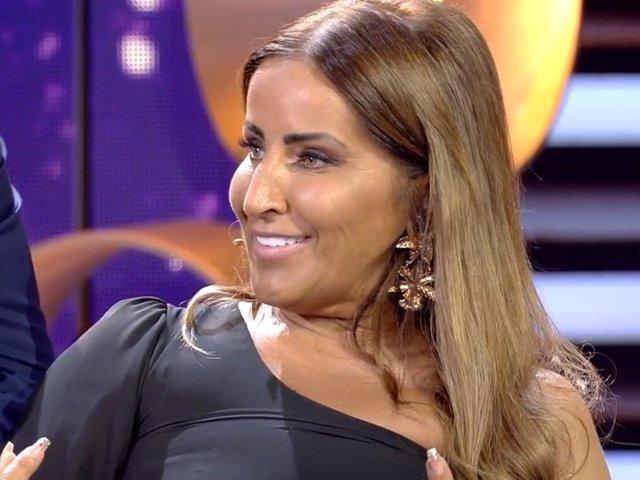 Raquel Salazar en el plató del Debate de 'GH VIP 7'