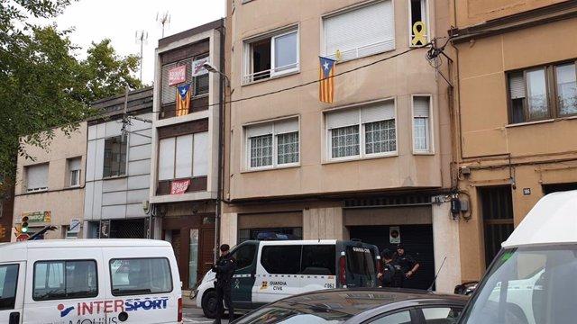 Operació de la Gurdia Civil contra independentistes a Sabadell
