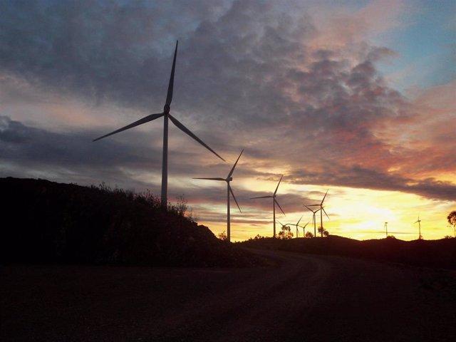 Parque eólico El Andévalo de Iberdrola en Huelva