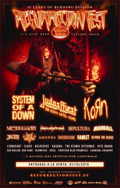 Judas Priest y Korn encabezan las nuevas confirmaciones del Resurrection Fest Estrella Galicia 2020