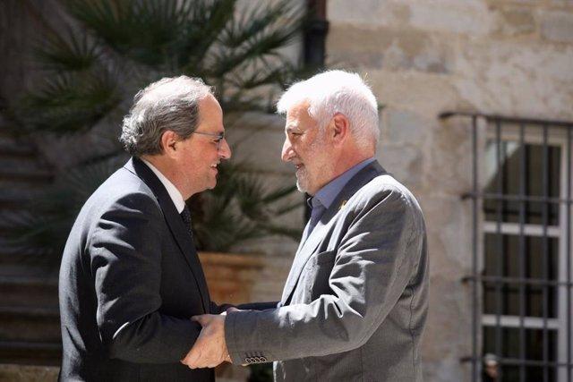 Quim Torra i Josep Maria Matamala (Arxiu)