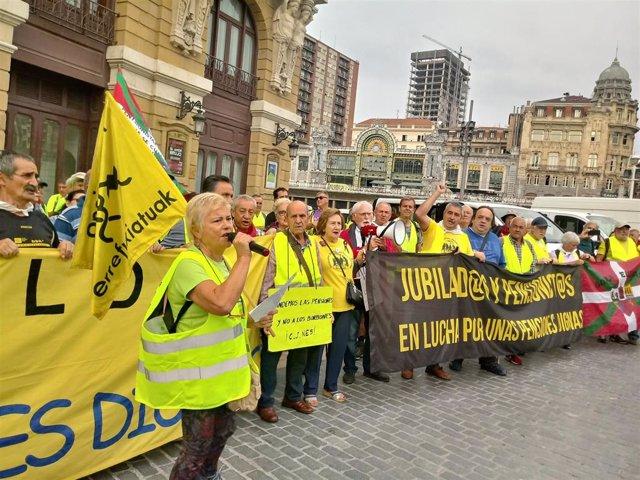 Pensionsitas realizan una marcha hacia Madrid