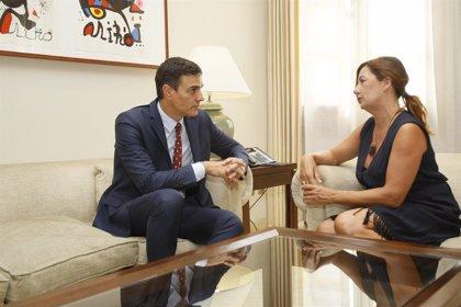 Armengol creu que les paraules de Sánchez no desautoritzen al pacte de Balears
