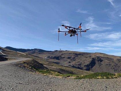 Sierra Nevada cartografía desde el aire el área esquiable para mejorar el pisado y la producción de nieve