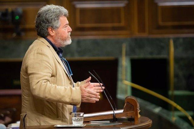 El diputado de Equo Juantxo López de Uralde en una de sus intervenciones en el Congreso
