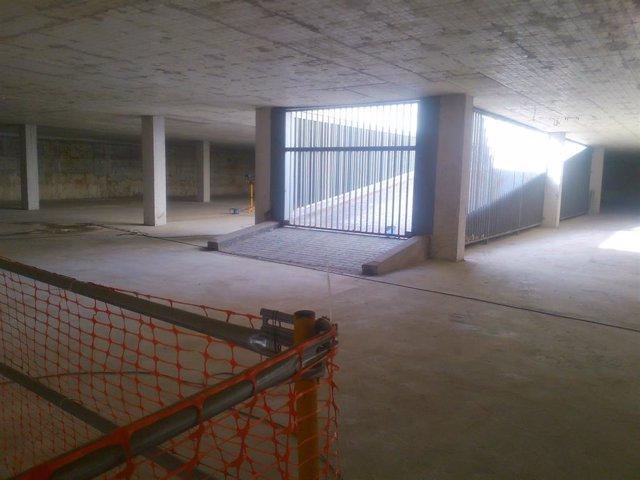 Interior del aparcamiento de la plaza Rafael Salgado