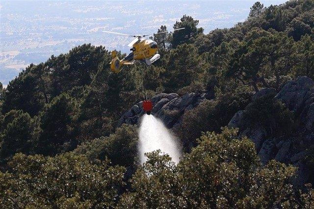 Imagen de archivo de un incendio forestal en la Comunidad de Madrid.