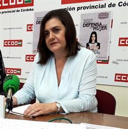 La secretaria general de CCOO Córdoba, Marina Borrego, en una imagen de archivo