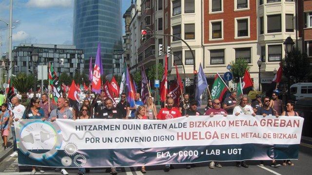Manifestación de trabajadores del Metal este pasado sábado