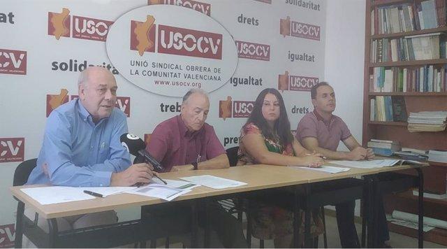 José Luis Fernández, Ismael Montero, Laura Estévez y Vicente Forner. USOCV