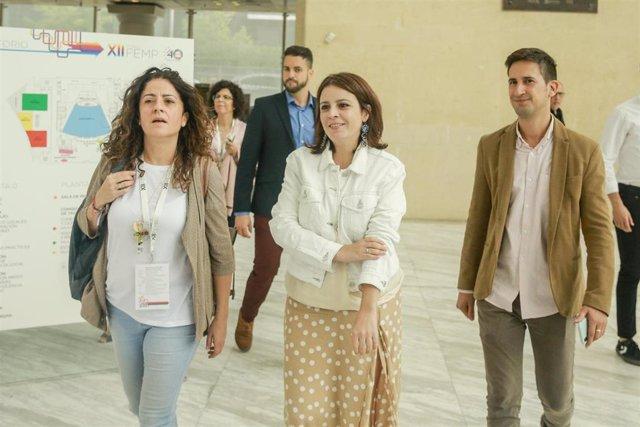 La portavoz del Grupo Socialista en el Congreso de los Diputados, Adriana Lastra, asiste al XII Pleno de la Federación Española de Municipios y Provincias (FEMP) en Madrid a 21 de septiembre de 2019.