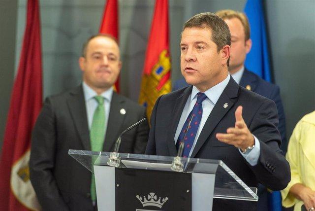 El presidente de C-LM, Emiliano García-Page, en Albacete