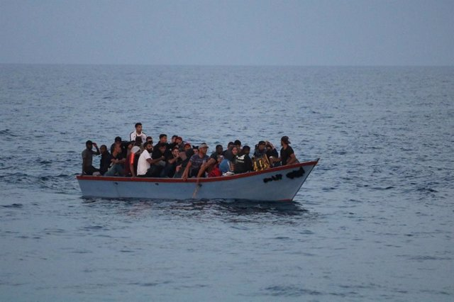 Migrants rescatats per l'Ocean Viking'