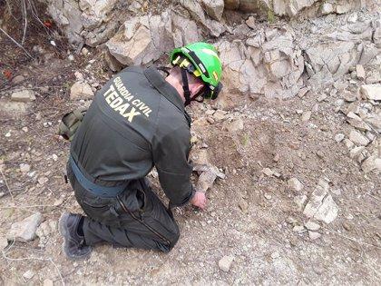 Desactivados en tres días en Jaén dos proyectiles y una granada de mortero procedentes de la Guerra Civil