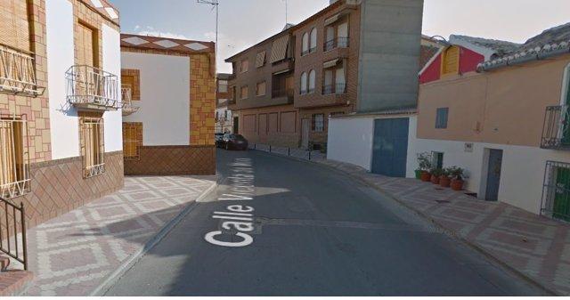 Calle Vicenta de Mora de Huerta de Vadecarábanos (Toledo).