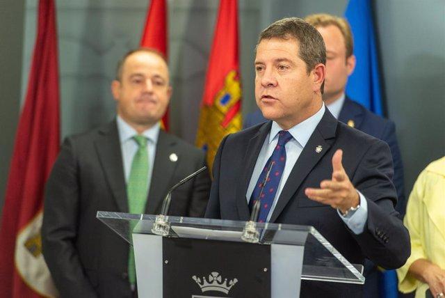 El president de C-LM, Emiliano García-Page, a Albacete