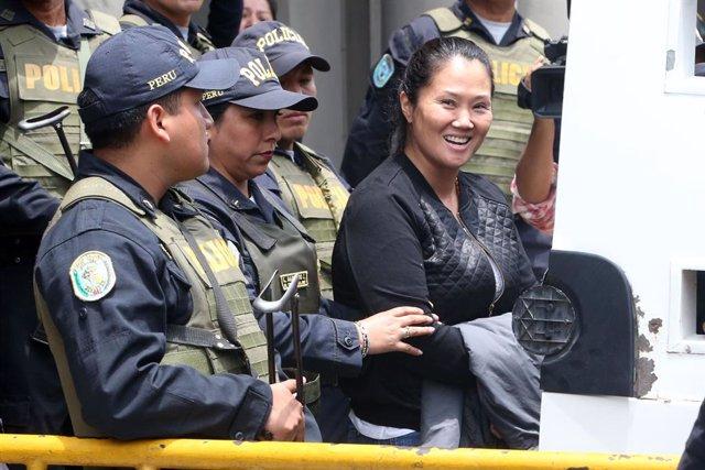 """Perú.- Keiko Fujimori dice que vuelve a la cárcel con la """"tranquilidad"""" de que p"""