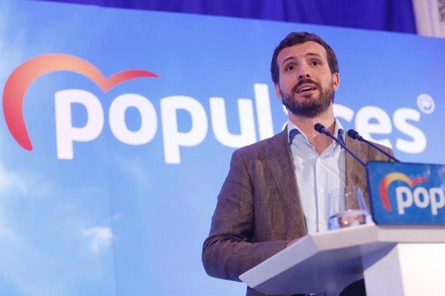 El president del PP, Pablo Casado
