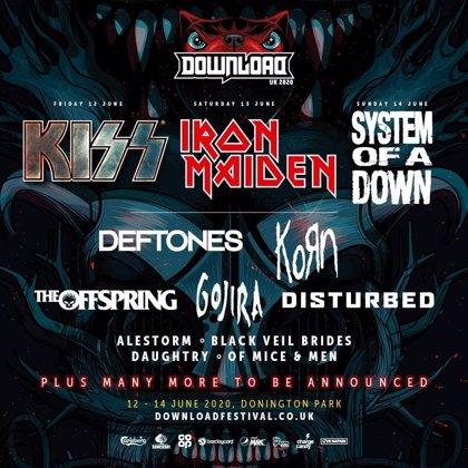 El Download Festival de Donington Park tendrá a Iron Maiden, Kiss, System of a Down, Korn, Deftones y The Offspring