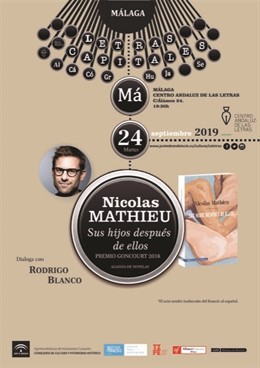 El escritor Nicolas Mathieu presenta en Málaga el libro 'Sus hijos después de ellos', Premio Goncourt 2018