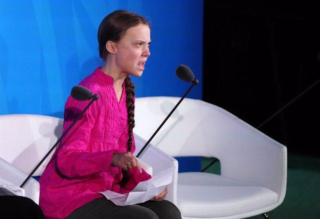 """Clima.- Greta Thunberg culpa a los líderes mundiales de que estemos """"al inicio d"""