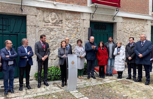 Acto de homenaje a Miguel de Cervantes en la Casa Museo de Valladolid