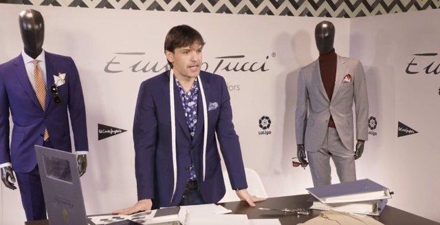 Fernando Morientes, nuevo gurú de la moda en un cameo de El Corte Inglés para Emidio Tucci
