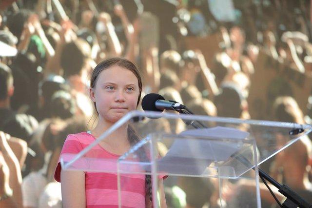L'activista sueca Greta Thunberg a Nova York