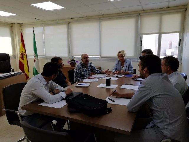 Cabrera preside una reunión para cuantificar los daños del temporal