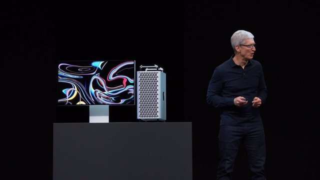 Mac Pro, presentado en WWDC 2019 por el CEO de Apple, Tim Cook