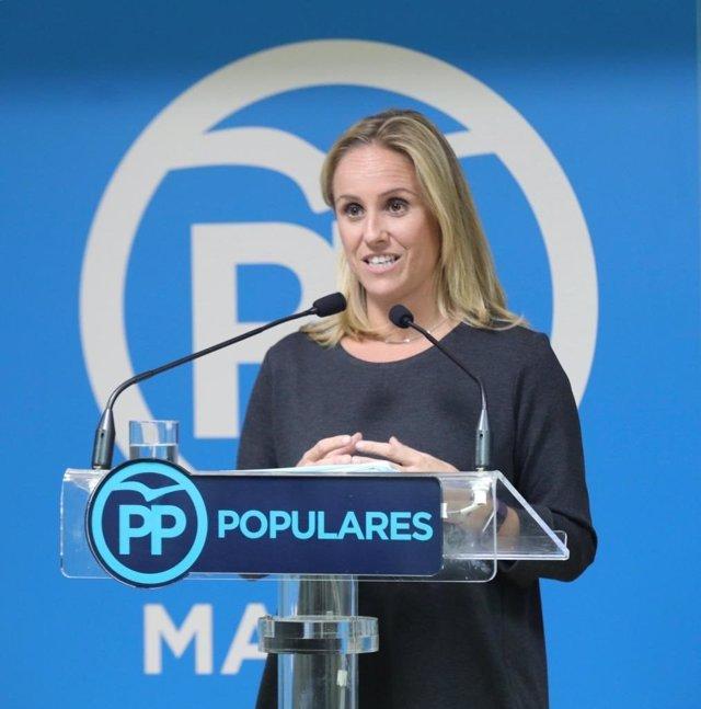 La portavoz adjunta del PP en la Asamblea de Madrid, Ana Camíns