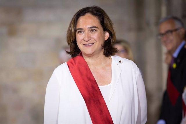 Ada Colau després de ser investida alcaldessa de Barcelona