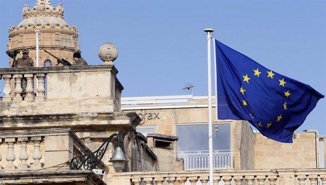 Bandera europea en Malta